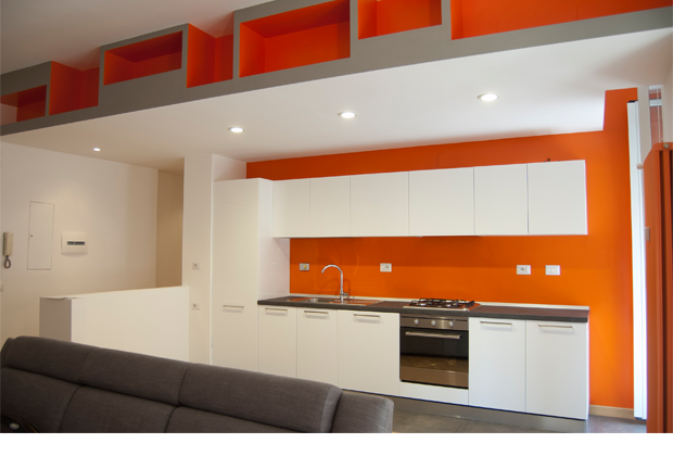 07am architettura interior design renderings a roma for Termoarredo salone